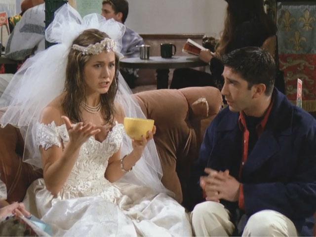 Wedding dress from 80s 90sfashion flashback weddingbee for Friends wedding dress
