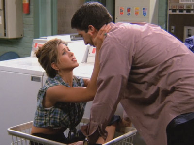 Friends | 105 | Ross and Rachel's first kiss