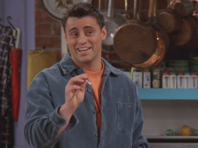 Friends | 406 | Joey buys Kathy a pen that's also a clock