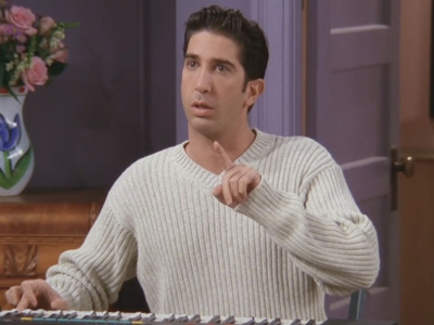 Friends | 407 | Ross plays the keyboard