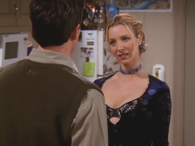 Friends | 514 | Phoebe seduces Chandler with her breasts
