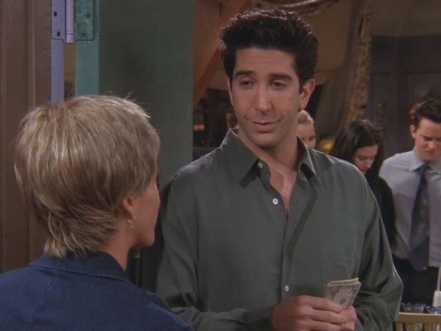 Friends | 519 | Ross flirts with the pizza girl and talks about gas