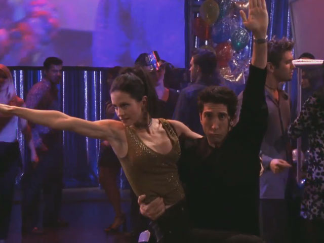 Friends | 610 | Ross and Monica's Dance Routine