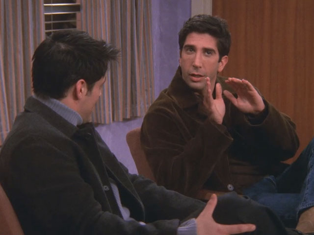 Friends | 616 | Ross tells Joey about his threesome