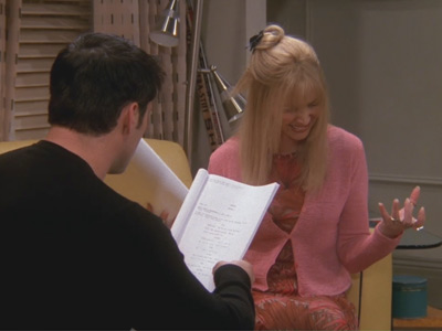 Friends | 620 | Phoebe reads lines with Joey