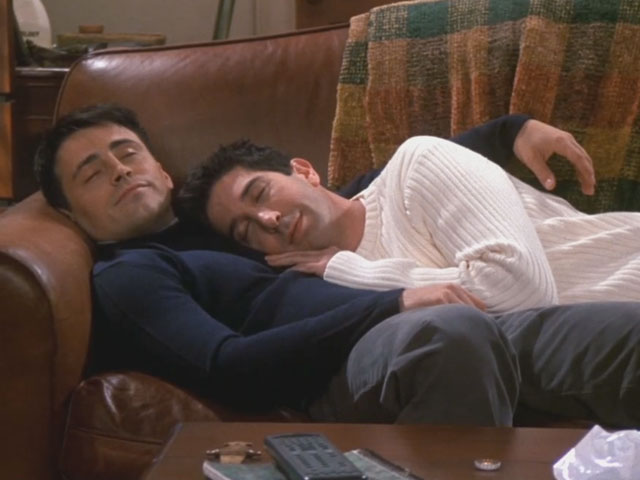Friends | 706 | Ross and Joey wake up from their first nap