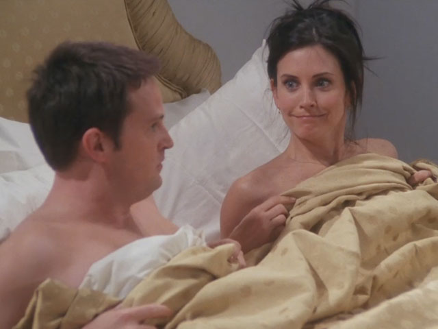 Friends | 716 | Chandler and Monica see each other naked in London