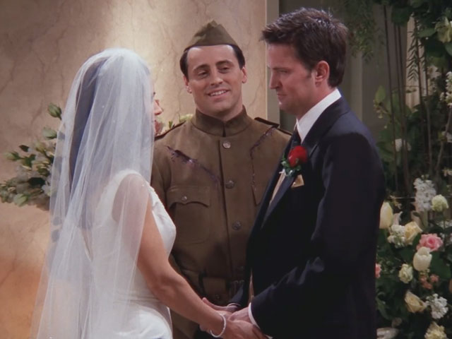 Friends | 724 | Joey marries Monica and Chandler