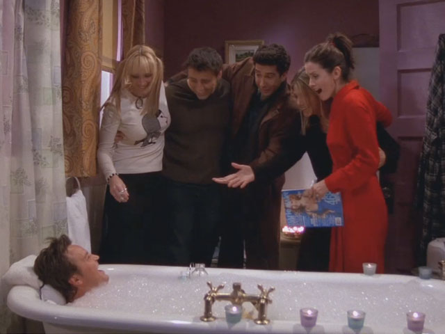 Friends | 813 | Chandler's just a girl in a tub