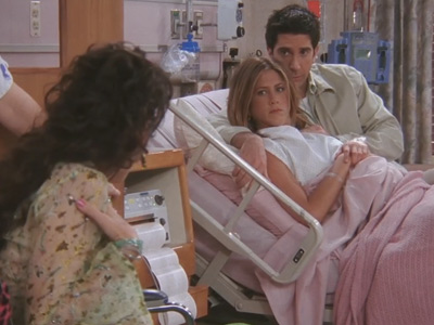 Friends | 823 | Janice arrives at the hospital. Oh. My. God.
