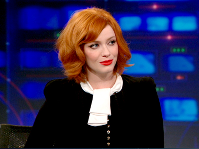 Christina Hendricks - The Daily Show