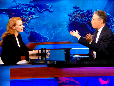 Jessica Chastain | January 16th 2013 | The Daily Show with Jon Stewart