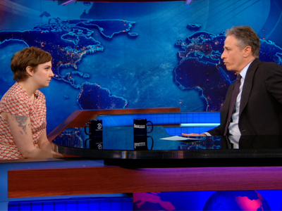 Lena Dunham | January 17th 2013 | The Daily Show with Jon Stewart