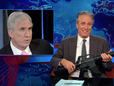 America Debates Gun Control | January 8th 2013 | The Daily Show with Jon Stewart