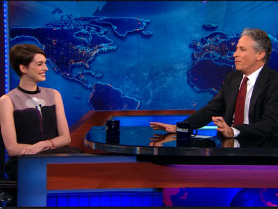 Anne Hathaway | January 7th 2013 | The Daily Show with Jon Stewart