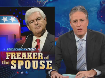 The Freaker of the Spouse - Newt Gingrich's Negotiation Skills - Indecision 2012 - The Daily Show