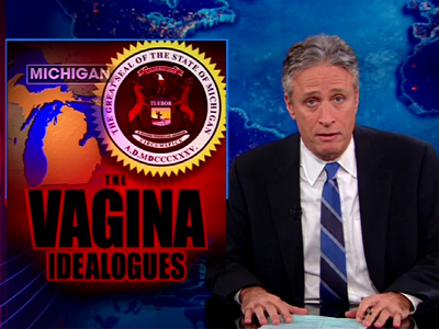 The Vagina Idealogues - Michigan Lawmaker Banned From Speaking - The Daily Show