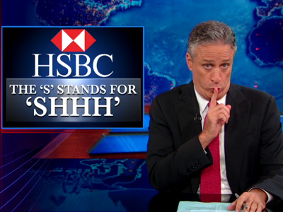 HSBC: Helping People Who Want to Kill You Since 1991 - The Daily Show