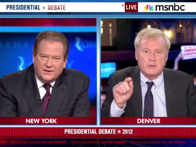 Chris Matthews' Debate Rant - The Daily Show: Moment of Zen