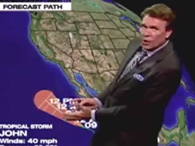 Tropical Storm John - The Daily Show: Moment of Zen
