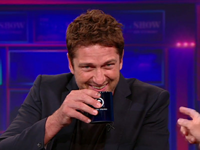 Gerard Butler's Face - The Daily Show