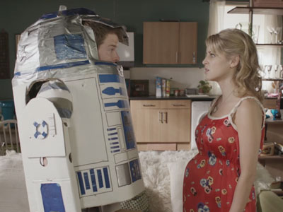 R2D2 - the very gentle lover | Threesome