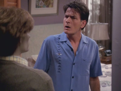 Two and a Half Men | 816 | Charlie Sheen's last ever scene